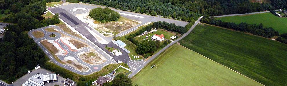 Das VSZ mit Verkehrsübungsplatz aus der Luft